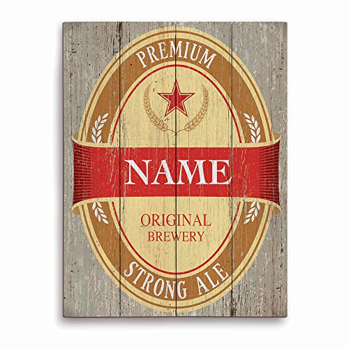 beer-can-bottle-label-bar-sign-wood-grain-red-customizable-wall-art-print