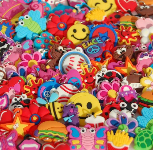 Encantos de chicas para pulseras de telar. Se adapta a todos los productos de goma. 25 estilos diferentes.