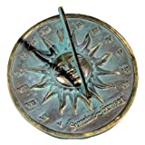 Rome RM2370 Brass Sunrise/Sunset Sundial