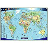 Illustrated Map of the World for Kids (Children's World Map) ~ Akros