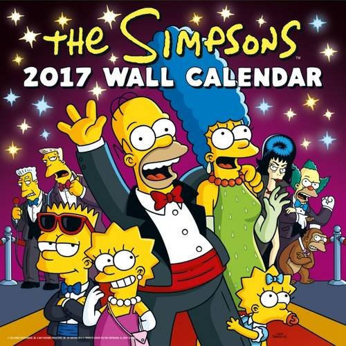 Simpsons Official 2017 Square Calendar