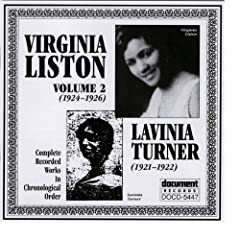 Virginia Liston Vol. 2 (1924-1926) Lavinia Turner (1921-1922)