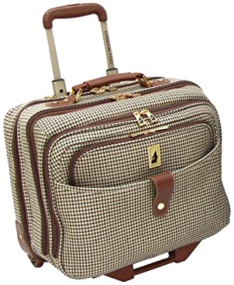 london fog luggage chelsea 17 inch computer bag olive plaid one size clothing. Black Bedroom Furniture Sets. Home Design Ideas