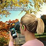 GOgroove AudiOHM CFT Athletic Training In Ear Headphones for Active Lifestyles - Works with Pono Player SanDisk Santa Clip+ SanDisk Sansa Clip Zip Apple iPod Touch Nano Classic Shuffle and many more!