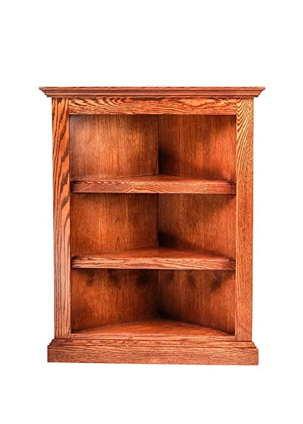 Forest Designs Traditional Corner Bookcase: 20 X 20 from Corner 60H Ebony Oak
