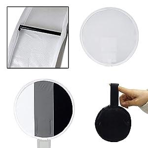 Portable Mini Round Soft Box Studio Shooting Tent Flash Diffuser Soft Box for Nikon//Canon//Sony//YongNuo//Bower//Metz//Nissin//Pentax//Sigma//Vivitar//Sunpack Speedlite FOTOCREAT 12 30cm