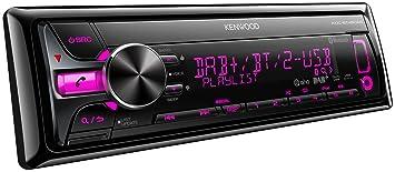 Kenwood KDC-BT48DAB Autoradios Bluetooth, En Façade