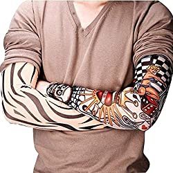 Tattoo Sleeves, DMG Unisex Cool Temporary Fake Slip on Tattoo Arm Sleeves Body Art Arm Stockings Warmers (Pack of 2)