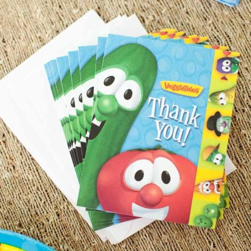 Veggie Tales Thank You Cards w/ Envelopes (8ct)
