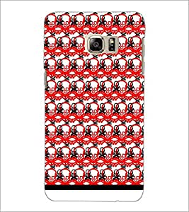 PrintDhaba Skull Pattern D-1025 Back Case Cover for SAMSUNG GALAXY NOTE 5 EDGE (Multi-Coloured)