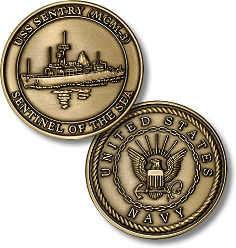 USS Sentry (MCM-3) Challenge Coin