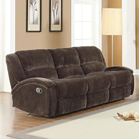 Homelegance Alejandro Recliner Sofa in Chocolate