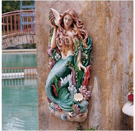 Mermaid Wall Art Decor Ideas Metal Stone Ceramic