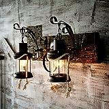 Xwal im amerikanischen Stil Wandleuchten Wandleuchten Dorf Schlafzimmer Nachttischlampe kreative
