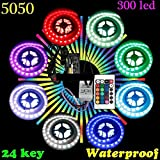 AmiciKart® Waterproof 5050 RGB LED Strip Light With Power Supply And Controller Made In India And Boycott Made In China Goods