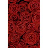 AOFOTO 6x8ft Romantic Red Roses Background Beautiful Blossom Bouquet Photography Backdrop Mother's Day Sweet Flowers Lovers Couple Lady Woman Girl Mom Portrait Photo Studio Props Video Drape Wallpaper (Color: RFS-A2, Tamaño: 6x8ft)