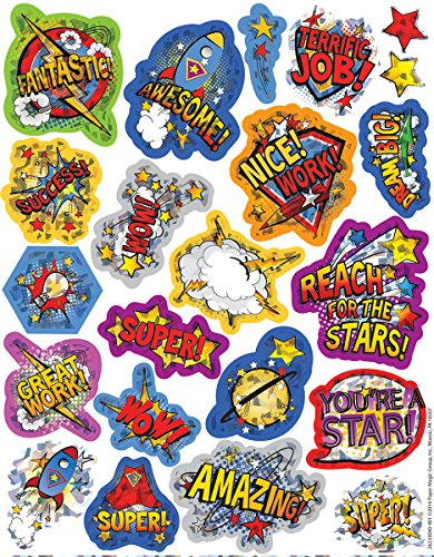 Eureka Super Class Stickers, Sparkle (623304)