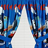 4pc Thomas the Train Curtain Set Faster Tank Engine Drapes with Tie-Backs