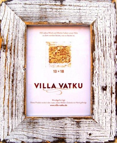 villa vatku holz bilderrahmen 13x18 cm farbe wei auf schwarz leistenbreite 5 cm stil. Black Bedroom Furniture Sets. Home Design Ideas
