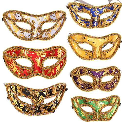 10pc/lot Women Men Venetian Costume Mask Party Mardi Gras Decoration