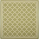 """Safavieh Courtyard Collection CY6918-244 Green and Beige Square Area Rug, 7 feet 10 inches by 7 feet 10 inches Square (7'10"""" x 7'10"""" Square)"""