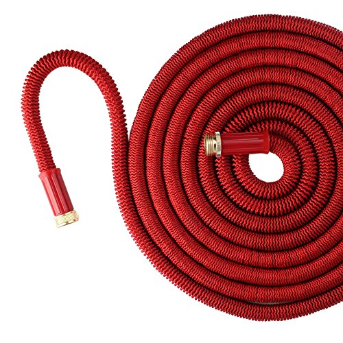 Worth and Nice 75 Feet Red Expanding Hose, Strongest Expandable Garden Hose on the Planet. Solid Brass Ends, Double Latex Core, Extra Strength Fabric, 2016 design Fathers Mothers Day Gift ( Style 2 ) (1 4 Inch Pipe Insulation compare prices)