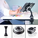 Octa Lynx - Tablet Mount for iPad, Galaxy, Surface and More (Color: Black with Gray and Silver Accents)