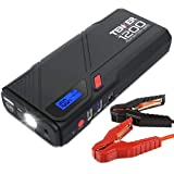 TENKER 1200A Peak Portable Car Jump Starter (for 6.5L gas/5.2L diesel engines), Battery Booster, QC 3.0 Phone Charger with Built-in LED Emergency Flashlight (Tamaño: N01)