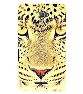 SCARY EYES OF A LEAPORD DEPICTING POWER 3D Hard Polycarbonate Designer Back Case Cover for Sony Xperia E4 Dual :: Sony Xperia E4