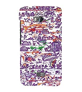 EPICCASE Abstract Art Mobile Back Case Cover For Micromax Q336 (Designer Case)