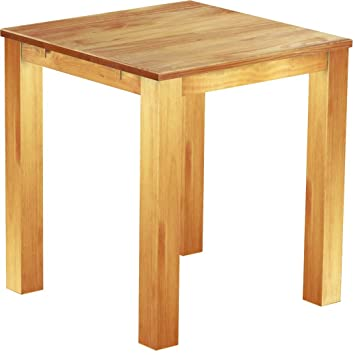 Brasil High Table Furniture 'Rio' 100 x 100 cm Solid Pine Wood, Colour: Honey