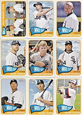 Chicago White Sox 2014 Topps Heritage MLB Baseball Complete Mint Basic 12 Card Team Set with Adam Dunn Robin Ventura Paul Konerko Plus