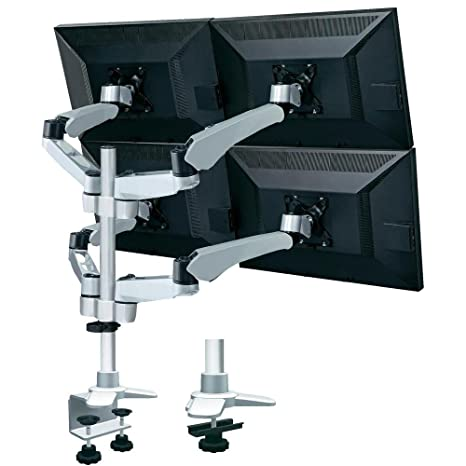 Xergo Flex 4fach Monitorhalter, Tischmontage con Gasdruck-Technik con C-Klemme