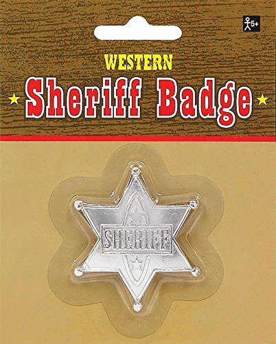 Badge Sheriff Silver (Pack of 12) - 1