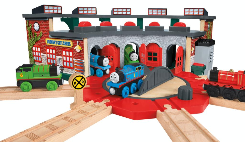 Thomas and friends wooden railway deluxe railroad crossing