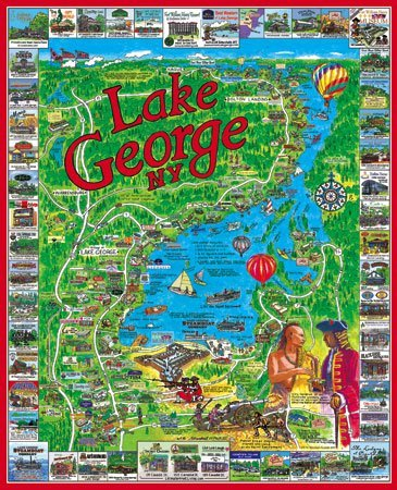 Cheap White Mountain Lake George New York 1000 Piece Jigsaw Puzzle White Mountain (B000TV64HS)