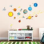 DecoWall Decowall, DW 1307, Planets in the Space Wall Stickers/Wall decals/Wall tattoos/Wall transfers