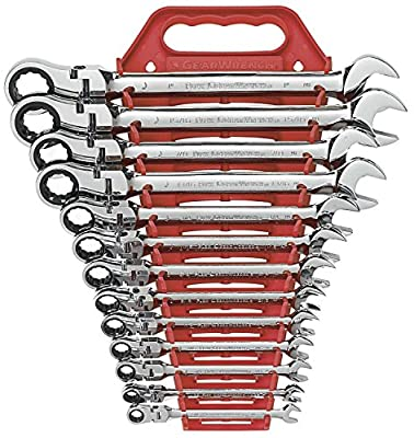 GearWrench 9702 13 Piece Flex-Head Combination Ratcheting Wrench Set SAE