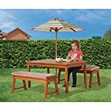 Kids Outdoor Play Table and Bench Dining Set