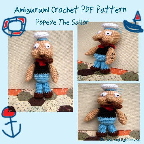 Popeye the sailor Amigurumi crochet Pattern