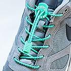 LOCK LACES (Elastic No Tie Shoelaces) (Reflective-Emerald)