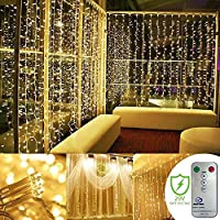 Kohree 300-LED Light Icicle Curtain Lights (Warm White)