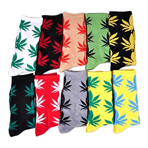 10-pares-de-calcetines-largos-del-algodon-del-deporte-forme-los-granos-del-arce-de-la-hoja-de-la-mal