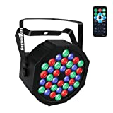 Stage Lighting Par Light 36x1W LED RGB 7 Channel with Remote for DJ KTV Disco Party Bar (1 PC) … (Color: 36 LED)