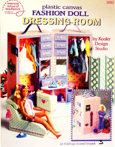 Plastic Canvas Fashion Doll Dressing Room front-1067570