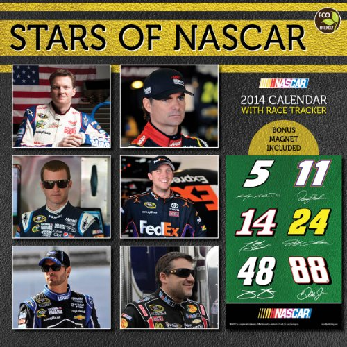 Stars of Nascar 2014 Calendar: With Race Tracker