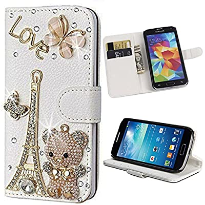 Ebestsale(TM) Luxury Handmade Bling Crystal Diamond Leather Wallet Stand Case For ZTE ZMAX Z970, from Ebestsale