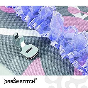 DREAMSTITCH SA120 Low Shank Shirring Gathering Presser Foot for Brother,Janome,Simplicity,Kenmore,Pfaff,Singer,Simplicity,Viking Sewing Machine ALT: 006917008,F012N,XG6589-001 702