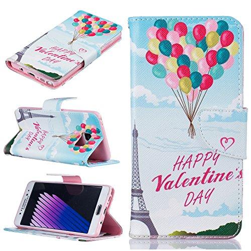 Coque Samsung Note 7, Cozy Hut ® Samsung Galaxy Note 7 Coque Livre Style PU Cuir Magnétique Flip Housse Étui Cover Case Wallet Portefeuille Supporter