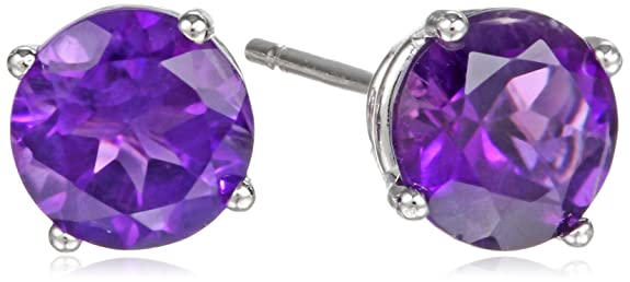 Gemstone-Round-Stud-Earrings-in-10k-White-Gold-5mm-